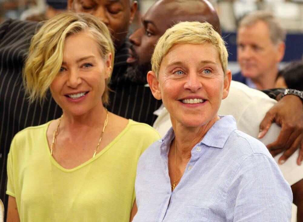 Portia de Rossi mit Ehefrau