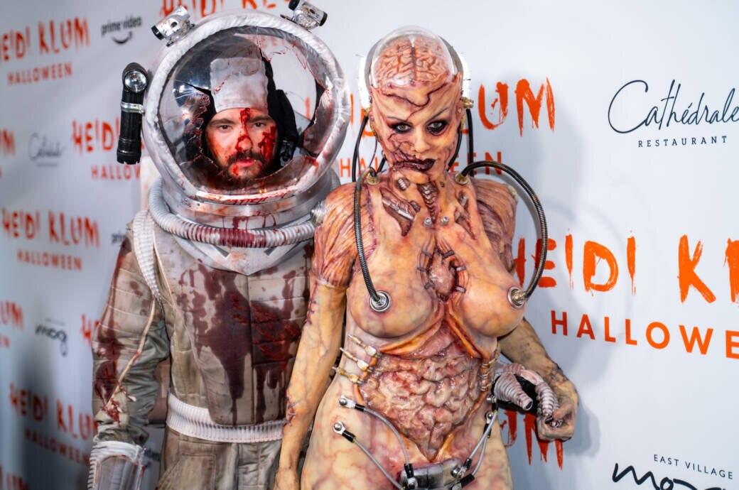 Heidi Klum und Tom Kaulitz auf Heidis Halloween Party 2019
