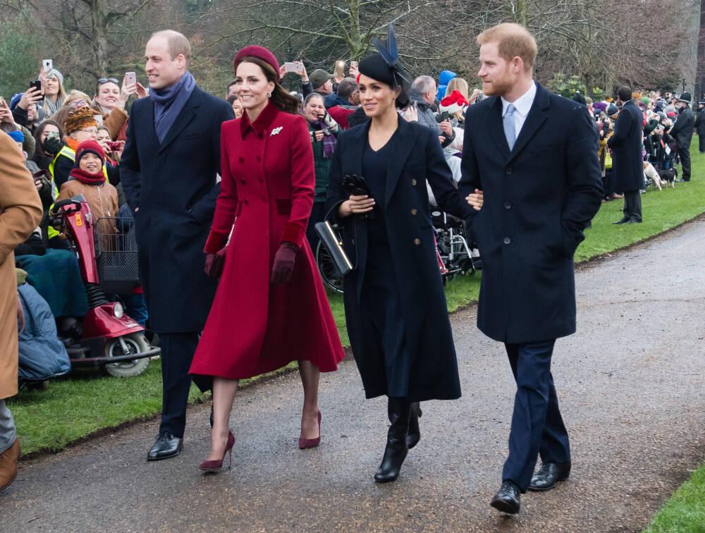 William, Kate, Meghan und Harry (v.l.)
