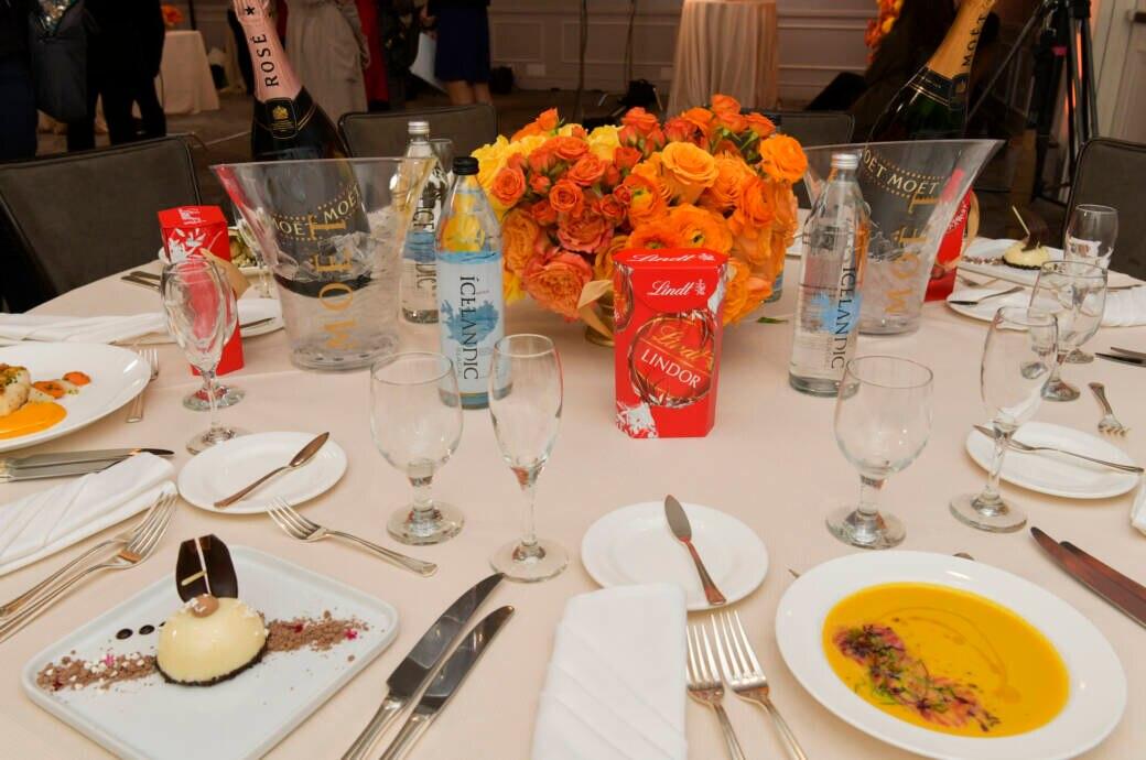Dinner Tisch bei den Golden Globes