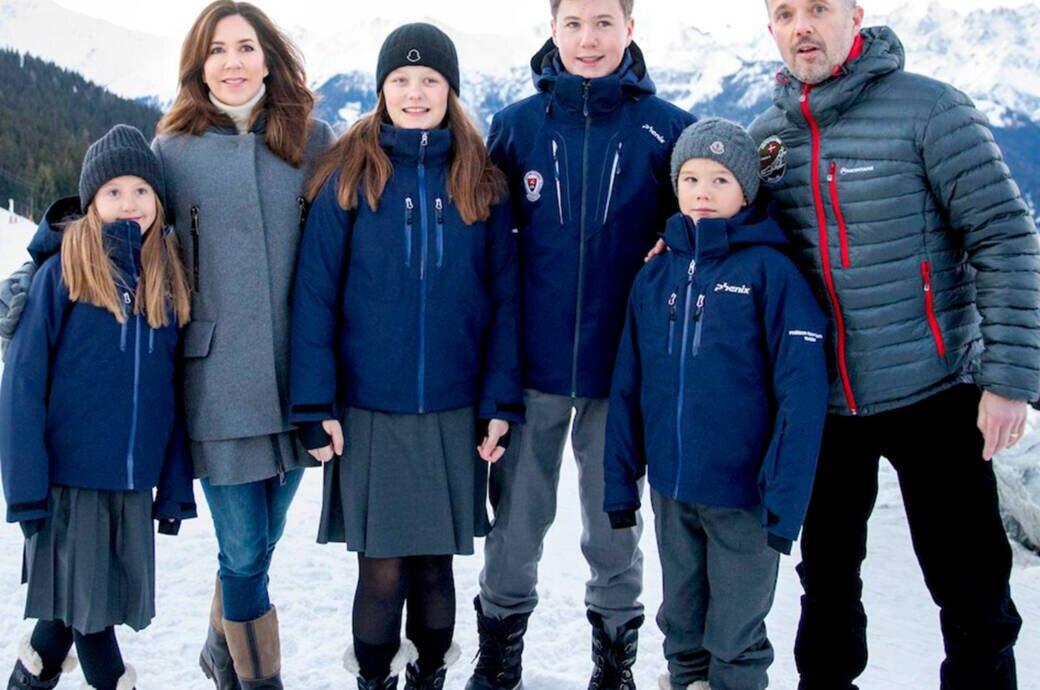 Dänische Kronprinzfamilie in Verbier