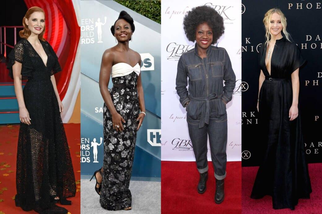 Jessica Chastain, Lupita Nyong'o, Viola Davis und Jennifer Lawrence