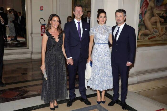 Marie mit ihrem Mann, Prinz Joachim, ihrer Schwägerin Mary und deren Mann, Kronprinz Frederik
