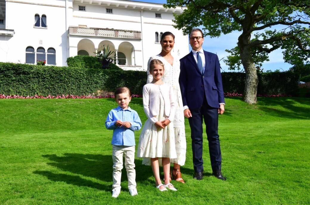 Kronprinzessin Victoria mit ihrer Familie