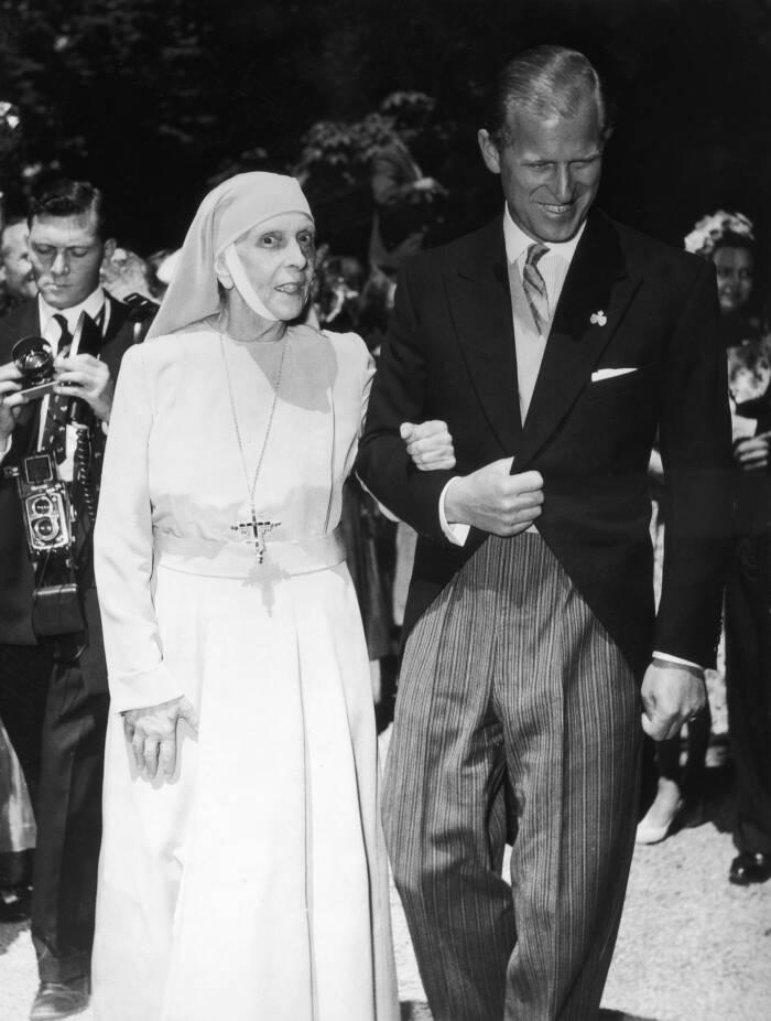 Prinz Philip und seine Mutter Prinzessin Alice von Battenberg