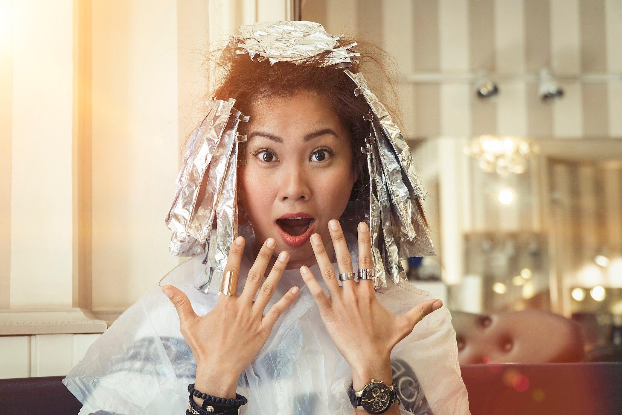 Haare zu hell gesträhnt was tun